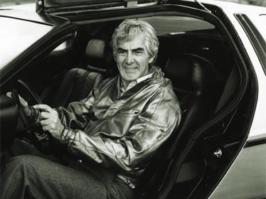 John Z. DeLorean et sa voiture