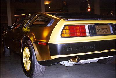 Arrière DeLorean en or